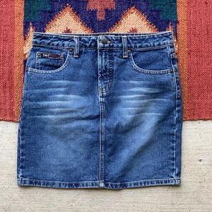 Vintage L.E.I. Denim skirt. Size 28